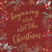 Pack of 6 It's Beginning Charity Christmas Cards Supporting Multiple Charities