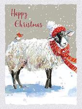Box of 8 Christmas Sheep Mini Christmas Cards