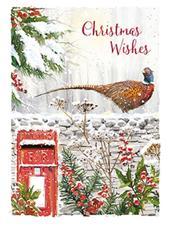 Box of 8 Festive Pheasant Mini Christmas Cards