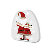 Santa With Banner Festive Shaped Christmas Notepad