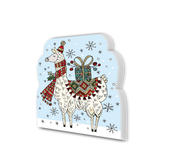 Llama Festive Shaped Christmas Notepad
