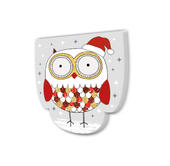 Owl With Santa Hat Festive Shaped Christmas Notepad