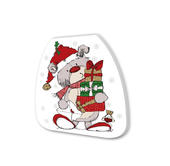 Scribble Bear Festive Shaped Christmas Notepad