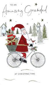 Amazing Grandad Embellished Christmas Card Hand-Finished