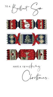Brilliant Son Embellished Christmas Card Hand-Finished