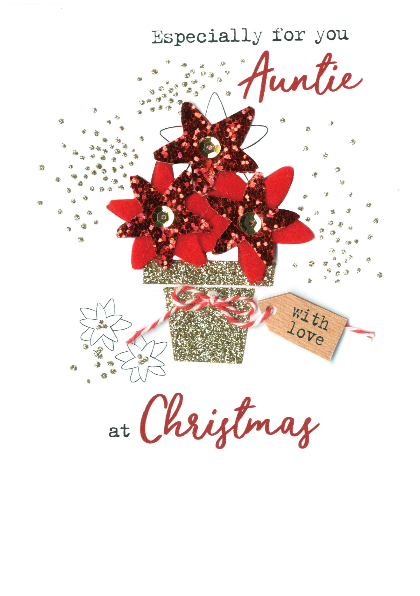 Baby Girl 1st Irresistible Christmas Greeting Card Embellished Cards
