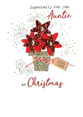 For You Auntie Irresistible Christmas Greeting Card