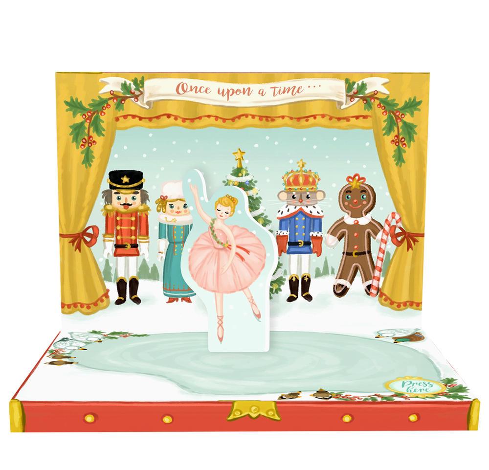 The Nutcracker Music Box Card Novelty Dancing Musical Christmas Card