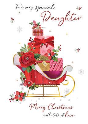 Special Daughter Embellished Magnifique Christmas Card