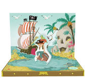 Happy Birthday Pirate Music Box Card Novelty Dancing Musical Greeting Card