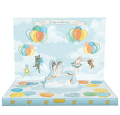 It's A Boy Music Box Card Novelty Dancing Musical Greeting Card