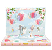 It's A Girl Music Box Card Novelty Dancing Musical Greeting Card