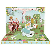 Adventures In Wonderland Music Box Card Novelty Dancing Musical Greeting Card