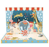 Circus Adventure Music Box Card Novelty Dancing Musical Greeting Card