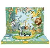 Jungle Adventure Music Box Card Novelty Dancing Musical Greeting Card