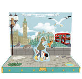 London Adventure Music Box Card Novelty Dancing Musical Greeting Card