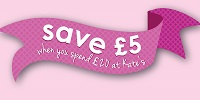 Save £5 when you spend £20