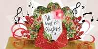 Exclusive Musical Pop-Up Christmas Card