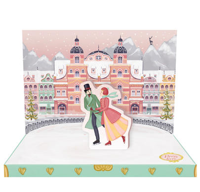 Winter's Dream Music Box Card Novelty Dancing Musical Christmas Card