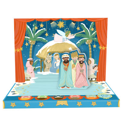 The Little Nativity Music Box Card Novelty Dancing Musical Christmas Card