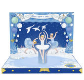 Swan Lake Music Box Card Novelty Dancing Musical Christmas Card