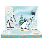 Penguin Adventures Music Box Card Novelty Dancing Musical Christmas Card