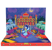 Aladdin's Adventures Music Box Card Novelty Dancing Musical Greeting Card