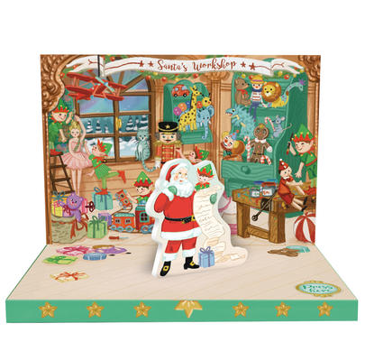 Santa's Workshop Music Box Card Novelty Dancing Musical Christmas Card