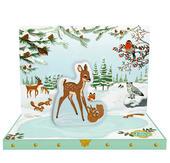 Winter Woodland Music Box Card Novelty Dancing Musical Christmas Card