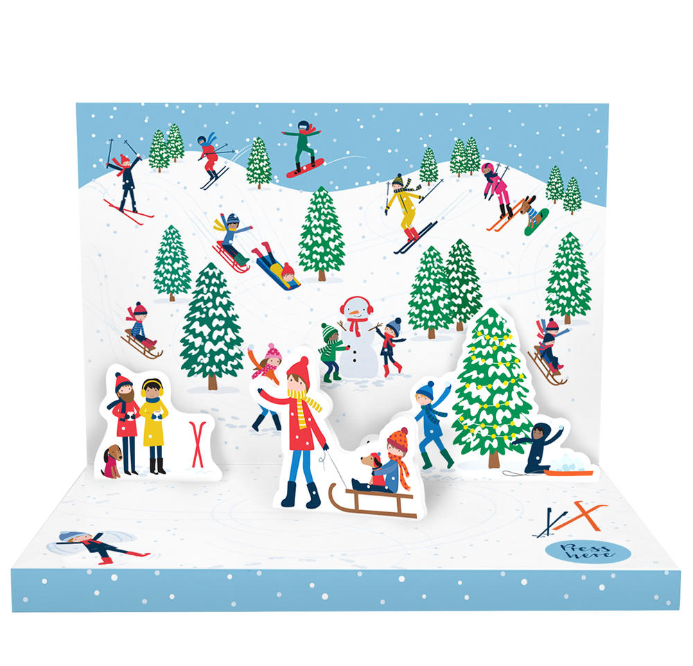 Let It Snow Music Box Card Novelty Dancing Musical Christmas Card