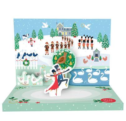 The 12 Days Of Christmas Music Box Card Novelty Dancing Musical Christmas Card
