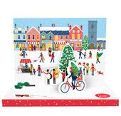 Christmas Town Music Box Card Novelty Dancing Musical Christmas Card