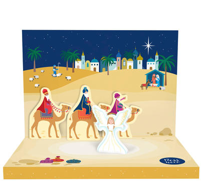 Little Town Of Bethlehem Music Box Card Novelty Dancing Musical Christmas Card