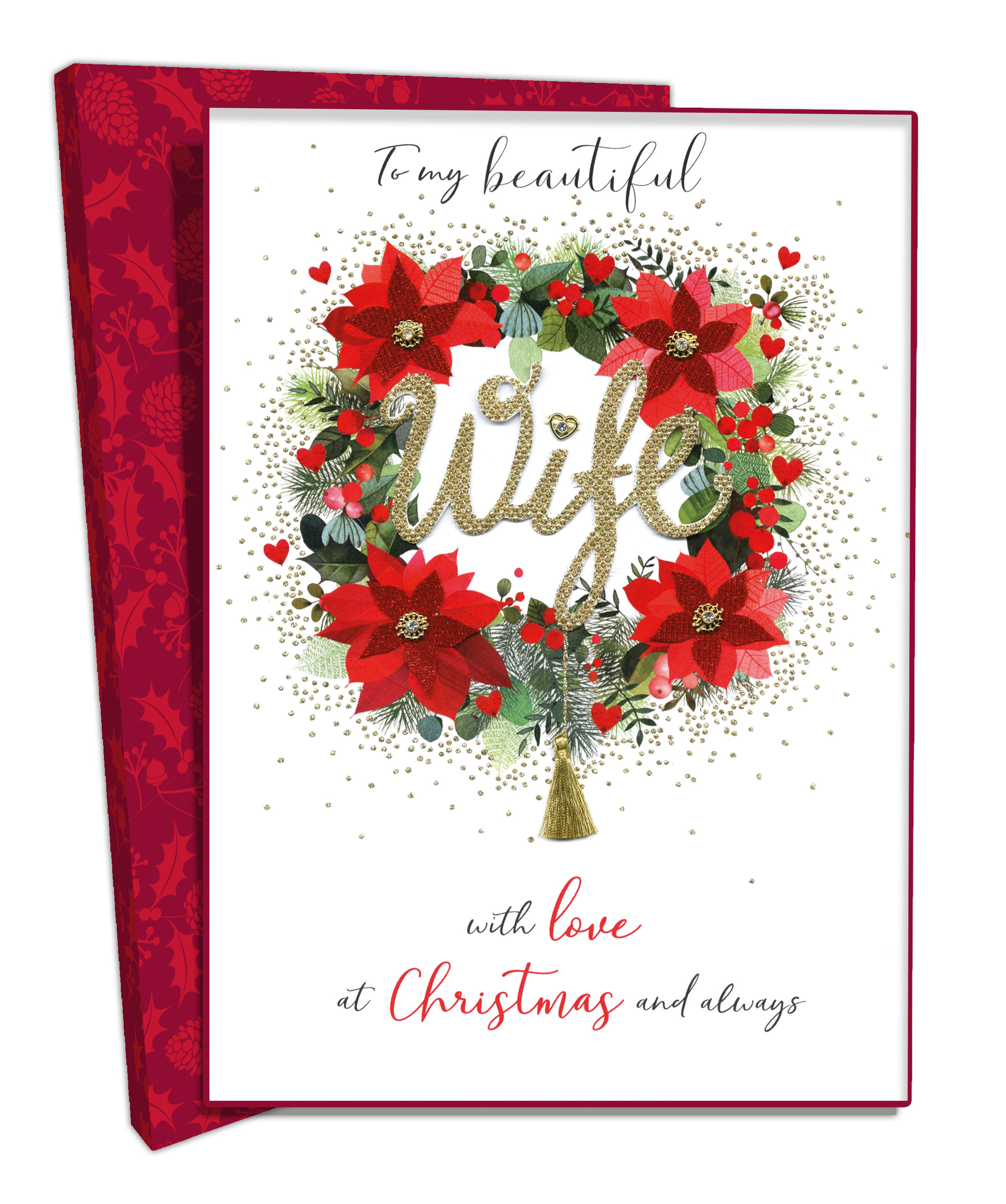 Boxed Beautiful Wife Luxury Lavish Keepsake Christmas