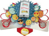 Happy Birthday Emoji Pop-Up Greeting Card