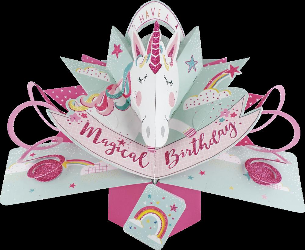 Unicorn Birthday Pop-Up Greeting Card