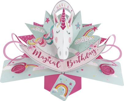 Unicorn Birthday Pop-Up Greeting Card