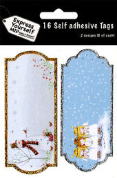 Angels & Snowman Christmas Gift Tags Pack Of 16 Self Adhesive Tags