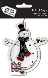 Snowman Christmas Gift Tags Pack Of 16 Self Adhesive Tags