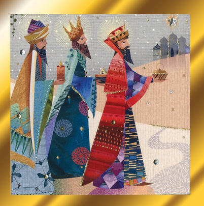 Three Kings Luxury Hand-Finished Christmas Card