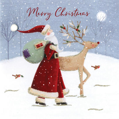 Merry Christmas Luxury Hand-Finished Christmas Card