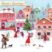Season's Greetings Luxury Hand-Finished Christmas Card