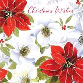 Christmas Flowers Luxury Hand-Finished Christmas Card