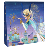 Large Herald Angel 35cm x 35cm Christmas Gift Bag With Tag