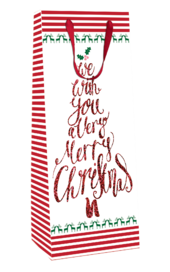We Wish You Merry Christmas Christmas Bottle Bag Christmas Gift Bag With Tag