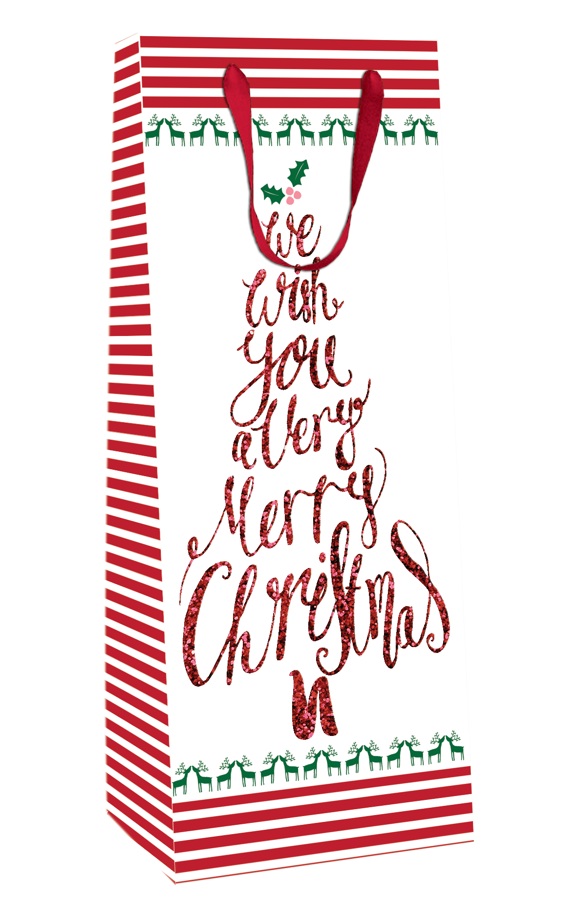 Merry Christmas Gift Tags.We Wish You Merry Christmas Christmas Bottle Bag Christmas Gift Bag With Tag