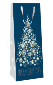 Diamond Christmas Tree Christmas Bottle Bag Christmas Gift Bag With Tag
