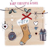 Warm Christmas Wishes Christmas Card Hand-Finished