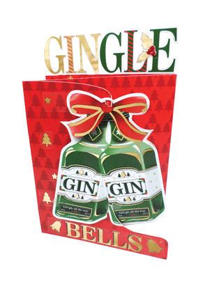 Happy Christmas Gingle Bells  3D Christmas Card
