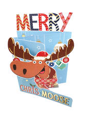 Merry Chris-Moose 3D Christmas Card